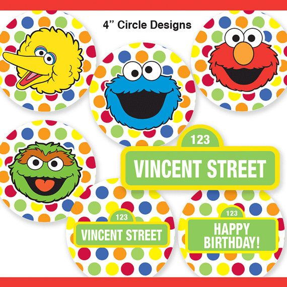 Este listado está para un personalizado SESAME STREET PARTY círculos * 2 y 4. Tiene artículos de fiesta para que tu fiesta sea muy especial. * Utilice un perforador de 2 para crear el círculo 2 o golpe o corte cuadrado   Recibirás: 2 cupcake Toppers: 10 diseños más nombre de signo de la calle (3 de los cuales son personalizados) 4 círculos del partido: 6 diseños plus muestra nombre de la calle (3 de los cuales son personalizados)  • • • • • • • • • • • • • • • • • • • • • • • • • • • • • • •…