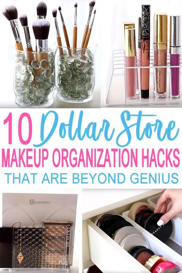 10 Dollar Store Makeup Organization Hacks That Are Borderline