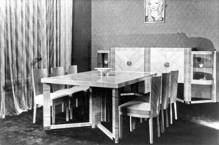 Halina Karpińska-Kintopf, dywan strzyżony Krzewy i zwierzęta, 1938 jadalnia zaprojektowana z Marią Bielską na wystawę Sztuka wnętrza, 1936, fot. IWP - photo 4