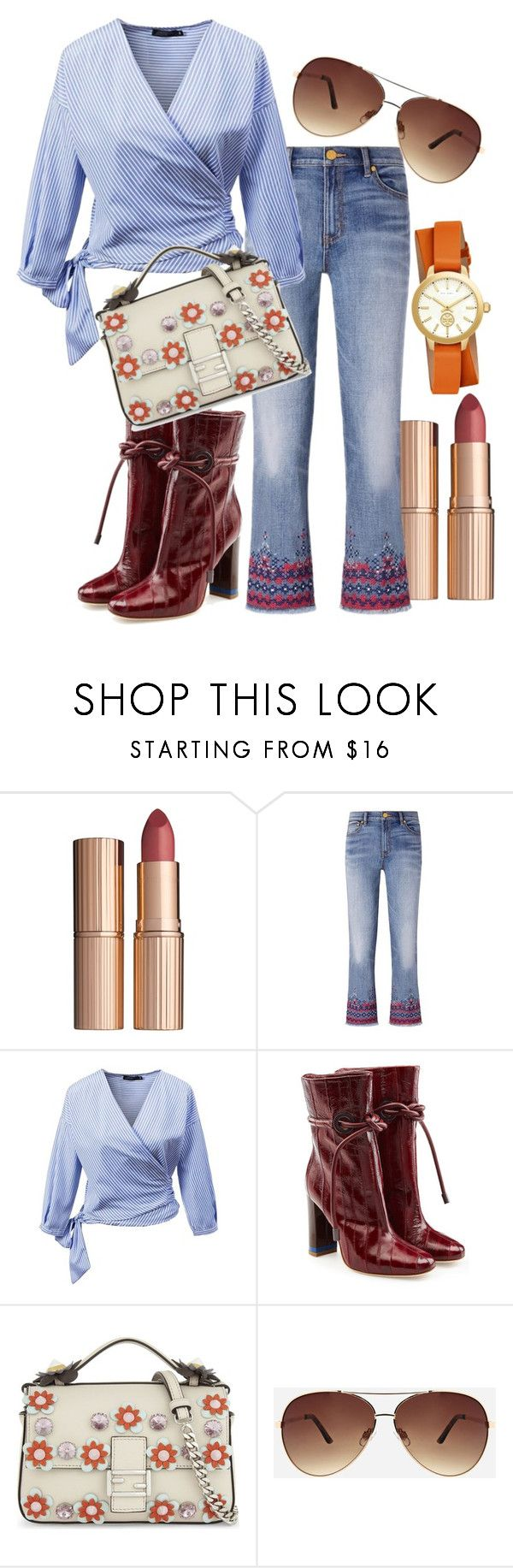 """""""Quick Outfit"""" by stylemaven2 ❤ liked on Polyvore featuring John Lewis, Tory Burch, Malone Souliers, Fendi, Ashley Stewart and quickdress"""