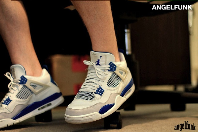 ANGELFUNK - Air Jordan IV (Military Blue): Blue 2006, Military Blue, Air Jordans, Jordans Iv, Sneakers, Iv Military