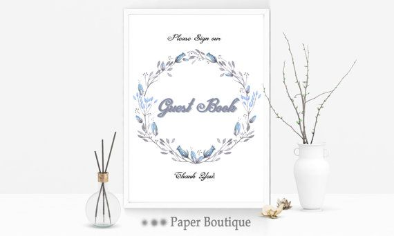 Guest book sign sign our guest book Wedding by PaperBoutiqueCA