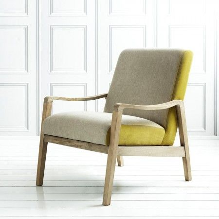 Classic design, a very mid-century Danish look. The way they chose to upholster the two fabrics is really gorgeous. Constantin Arm Chair - New In
