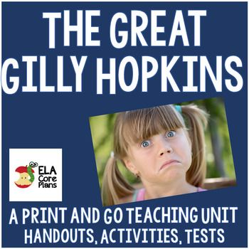 9 best the great gilly hopkins images on pinterest close reading the great gilly hopkins novel unit activities handouts tests fandeluxe Images