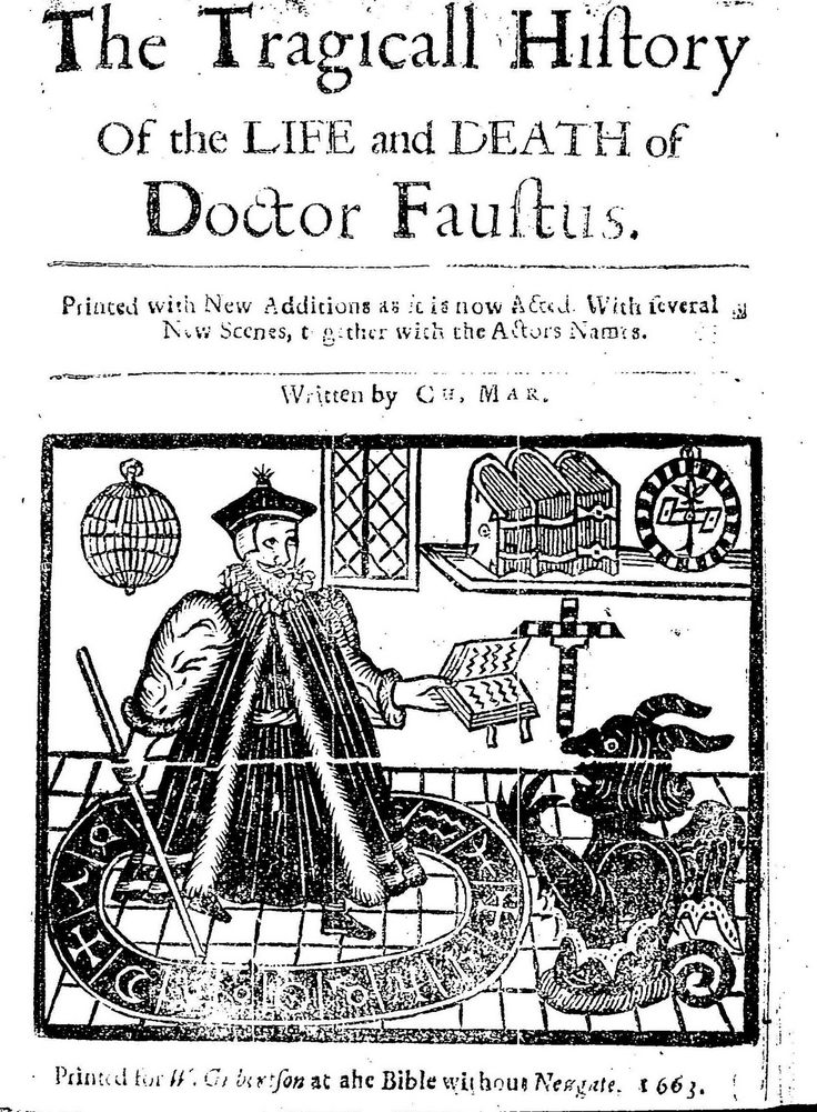 The TRAGICAL HISTORY  or The LIFE and DEATH OF DOCTOR FAUSTUS  By Christopher Marlowe.