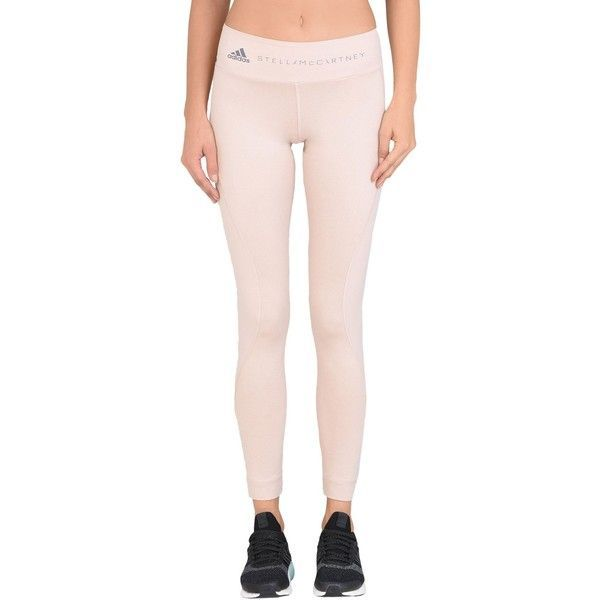 Adidas By Stella Mccartney Leggings (135 CAD) ❤ liked on Polyvore featuring activewear, activewear pants, skin colour, adidas, pink activewear, adidas sportswear, pink sportswear and adidas activewear