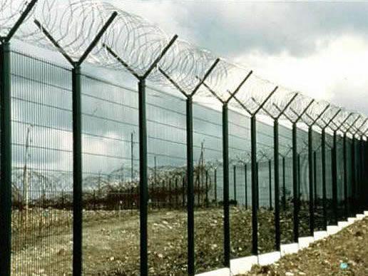 Vertical Bar Security Fencing   Metal Security Fencing