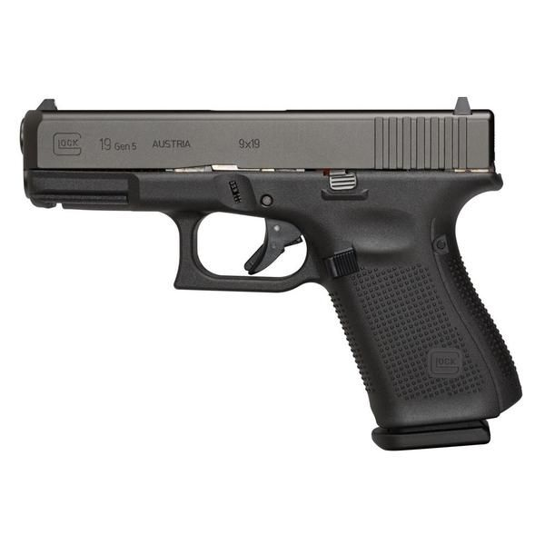 GLOCK G19 Gen 5 9mm 4in 15rd Mag Semi-Automatic Pistol