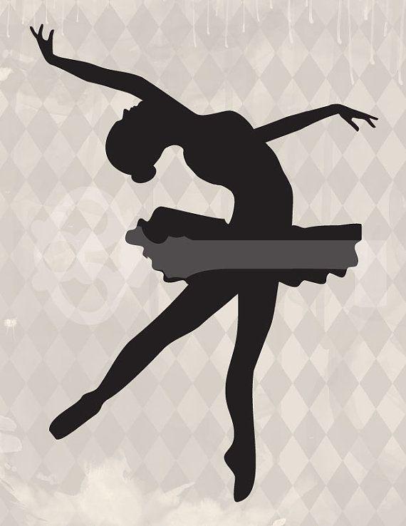 картинки с балеринами силуэт для песни