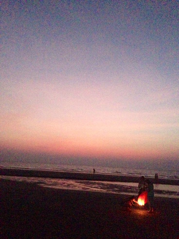 Setting off the lanterns at Arambol Beach, Goa