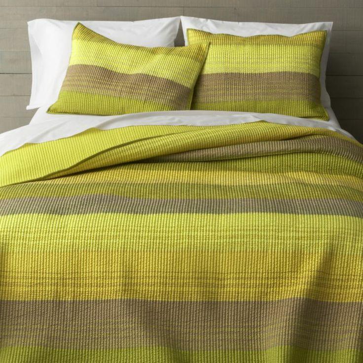 Sedona Green Bed Linens  | Crate and Barrel
