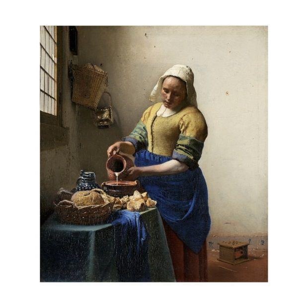ixxi Johannes Vermeer Muurdecoratie Melkmeisje - 160 x 180 cm - afbeelding 3