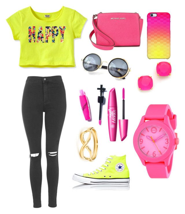 Sin título #28 by ymerly15 on Polyvore featuring polyvore fashion style Topshop Converse Michael Kors Movado Kate Spade Uncommon Manic Panic NYC clothing