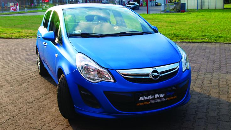Opel Corsa D 3M Satin Perfect Blue Oklejanie samochodów Bytom www.silesiawrap.pl