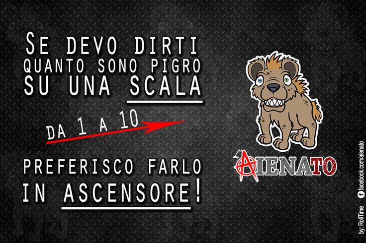 #aIENAto #Pigrizia #Scala #Ascensore #FotoDivertenti #Meme