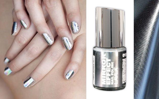 Mirror Image nail polish and mirrored nail effects