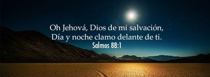 """Día y noche clamo delante de ti. - Salmos 88:1 """"Oh Jehová, Dios de mi salvación, Día y noche clamo delante de ti."""""""