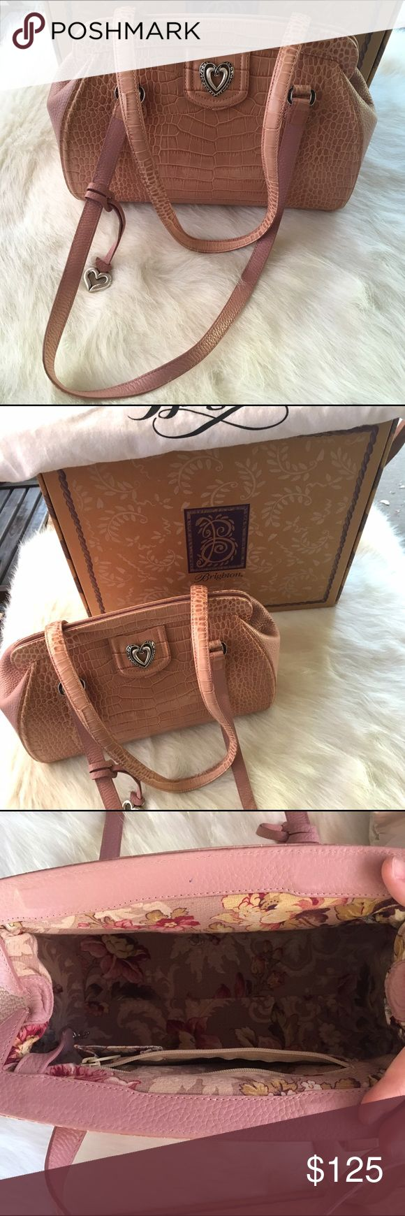 Elle Rose Brighton Handbag Beautiful Brighton hand bag. Comes with original box & dust bag. Pretty pink leather. 2 small pen marks, otherwise perfect!! 💕💕 Brighton Bags Satchels