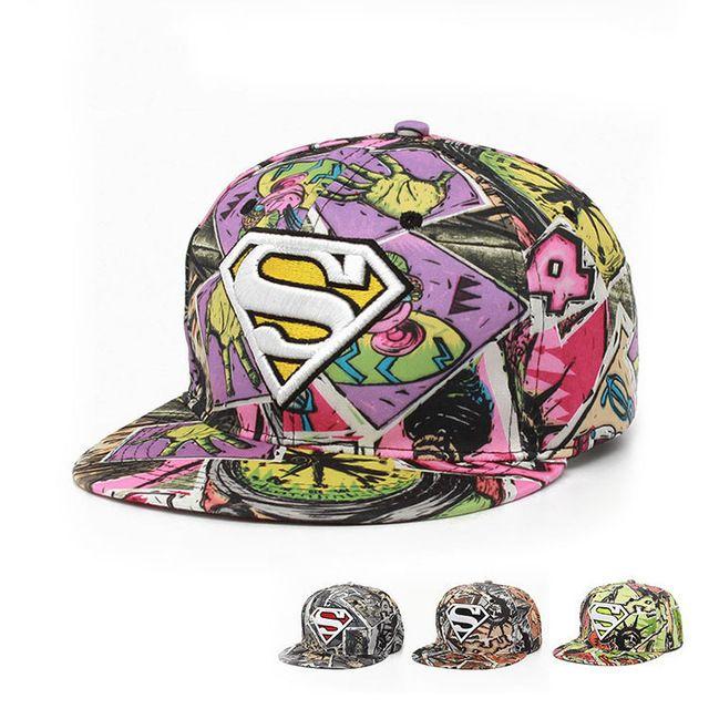 Sıcak! 2015 moda unisex superman beyzbol şapkası şapka erkekler kadınlar için serin ayarlanabilir süper adam hip hop snapback şapkalar hediye