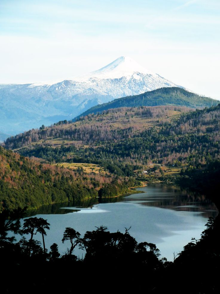 #Postcard from Huerquehue National Park - Great view of active volcano Villarrica - Chile