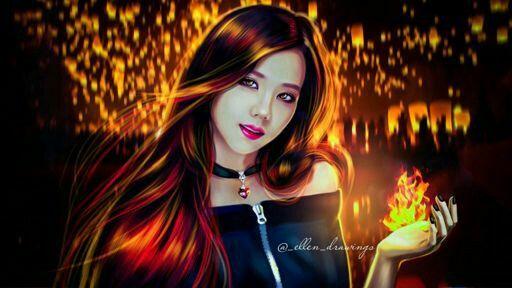 Jisoo Blackpink Art by Ellen