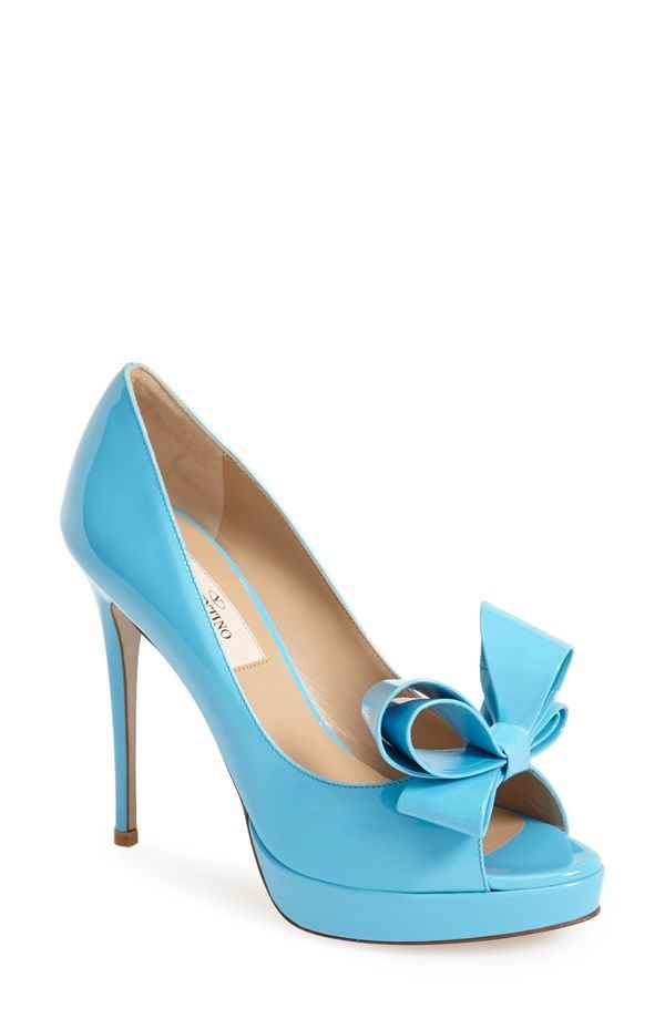 These Valentino peep toes would make the perfect something blue