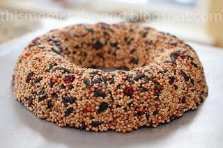 BIRD SEED WREATHS.  Finally a recipe for wreaths that dry clear and stay together!