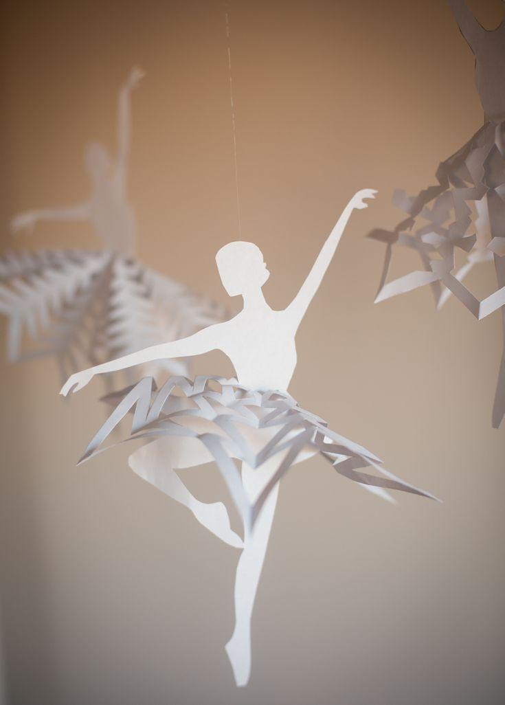 diy snowflake ballerinas free printable template