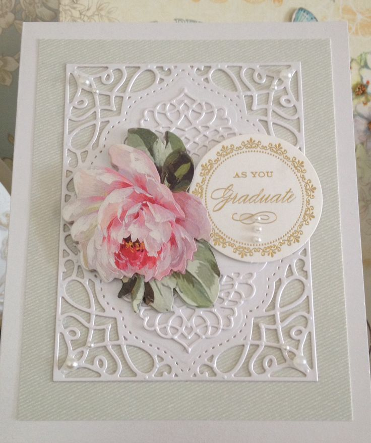 Spellbinders tranquil moments. Anna griffin embellishments. Made by me! Sue Whyte ❤️