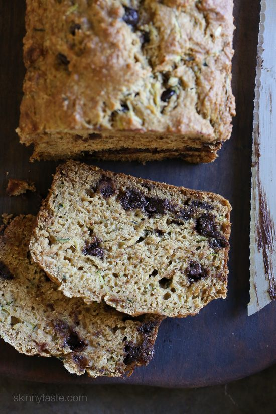Low Fat Chocolate Chip Zucchini Bread