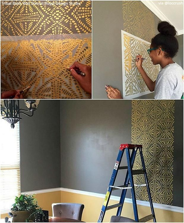 Paint Batik Fabric Designs With Wall Stencils Furniture Stencils In 2020 Wall Design Stencils Wall Stencil Furniture