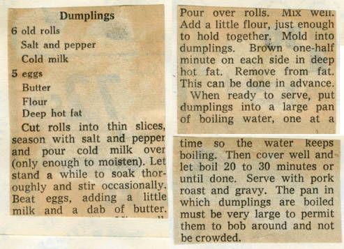 Dumplings. :: Historic Recipe