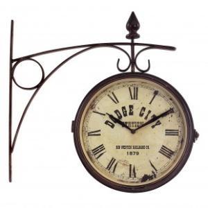 IMAX Train Station Wall Clock - 2512 - Clocks - Decorative Accents - DecorWall Decor, Training Stations, Stations Clocks, Kitchens Wall, Wall Hanging, Train Stations, Decor Accent, Stations Wall, Wall Clocks