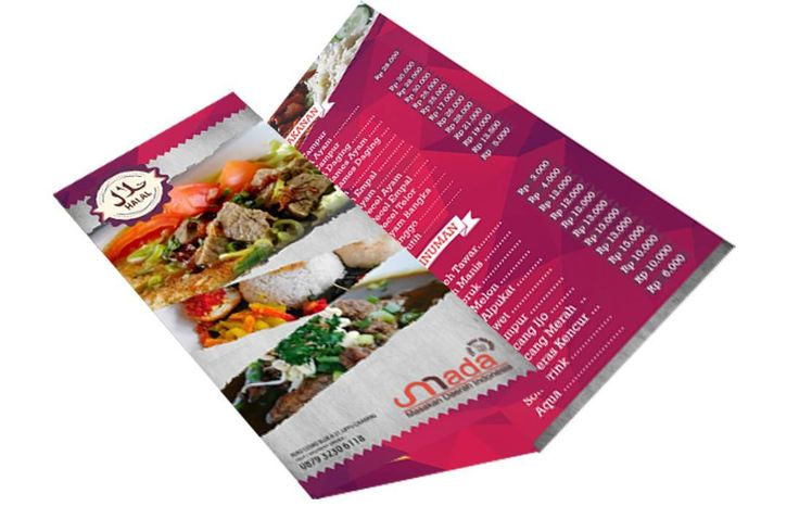 Trifold for javaness food