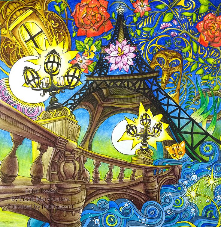 Peta Hewitt Aka La Artistino With The Eiffel Tower From Magical City By Lizzie Mary Cullen