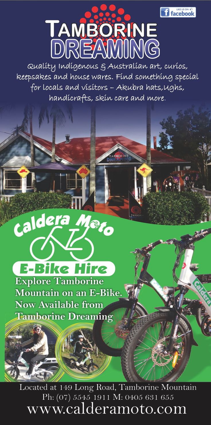 Caldera Moto gives you the ability to explore Tamborine Mountain your way on a Electric Bike (great for those steep hills) for More information visit http://ticketsandtours.com.au/travel/tamborine-dreaming/