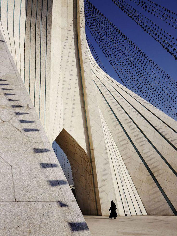 """Azadi (""""Freedom"""") Tower, the gateway to Tehran designed in 1966 by a then 24 year-old Hossein Amanat."""