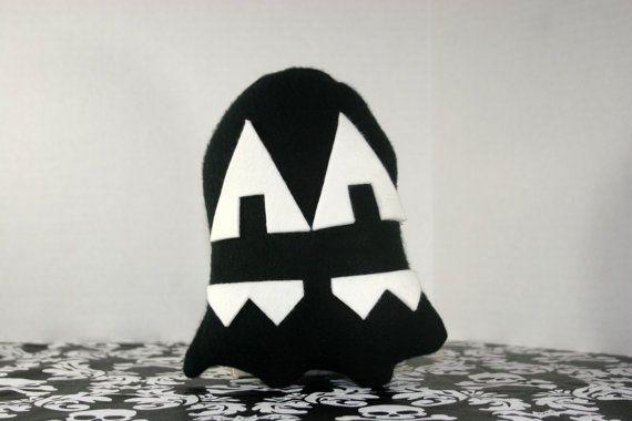 Pixel Punkin' Ghost Plush Toy - Black N White - Z+Ghost