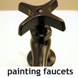 DIY::How to spray paint faucets. Holds Up No Chipping etc. - ( and can clean with harsh chemicals such as Clorox wipes).