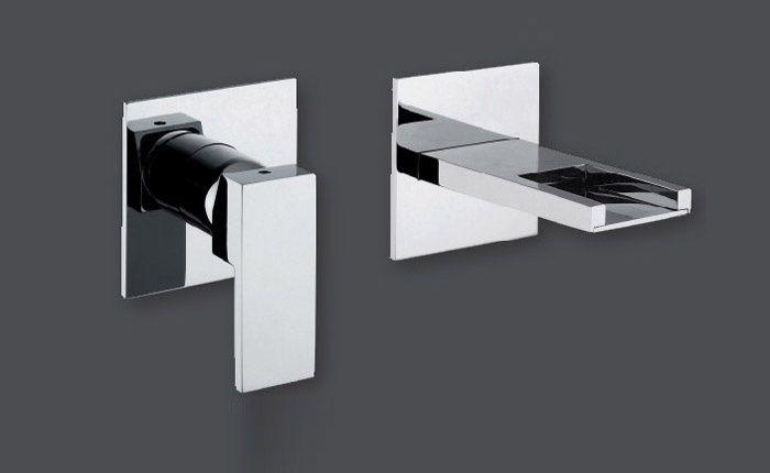 BagnoIdea.com - Rubinetto lavabo a muro Collezione PLP - Rubinetti miscelatori monocomando per lavabi bagno Rubinetteria Giulini