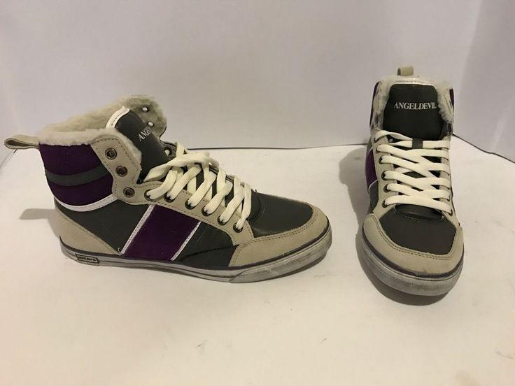 scarpe sneackers angeldevil  colore grigio viola 36 38 39