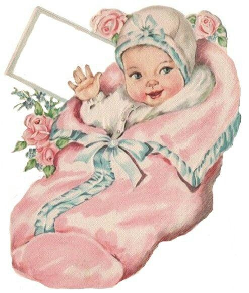 Советские открытки с новорожденной девочкой