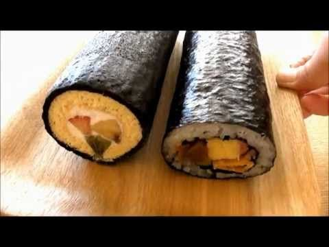 How to make Eho Maki Sushi Roll Cake Setubun Norimaki 恵方巻き 巻き寿司 ロールケーキ