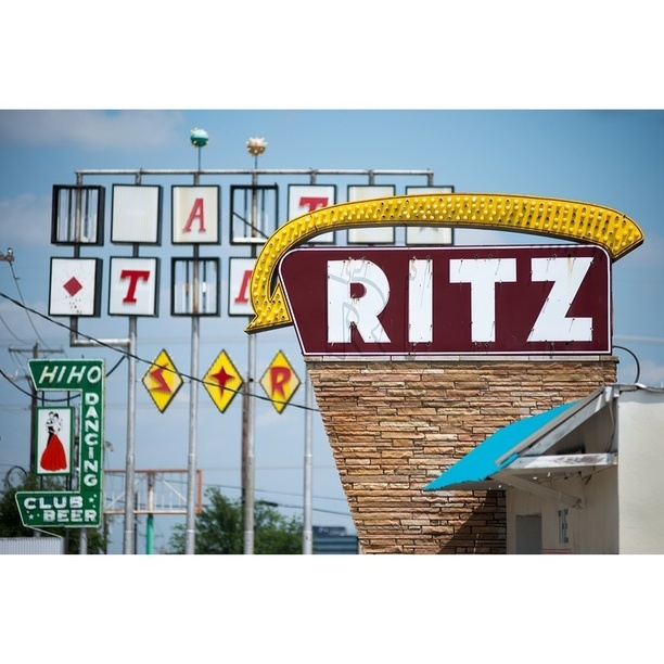 "Discovered By Bob Cooley, ""When you want them to know your place is classy, make sure you name it the Ritz!  Ritz Starlite Room Dancehall - W. Jefferson Street, Haltom TX."" at Ritz Starlite ballroom, Grand Prairie, Texas"