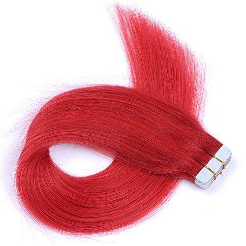 Best 25 tape hair extensions ideas on pinterest tape in fyx 20pcs50g red color tape hair extensions real brazili https pmusecretfo Choice Image