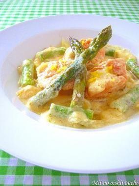塩鮭とアスパラのレモンクリーム煮 & レシピブログにてインタビュー公開中!|レシピブログ
