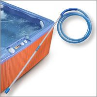 What a nifty way to easily clean dirt and debris from my hot tub spa!