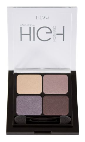 Hean Quatro Eye Shadows with applicator brush Velvet Chic