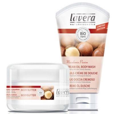 Lavera Macadamia Passion Gift Set - luscious body butter and creamy body wash