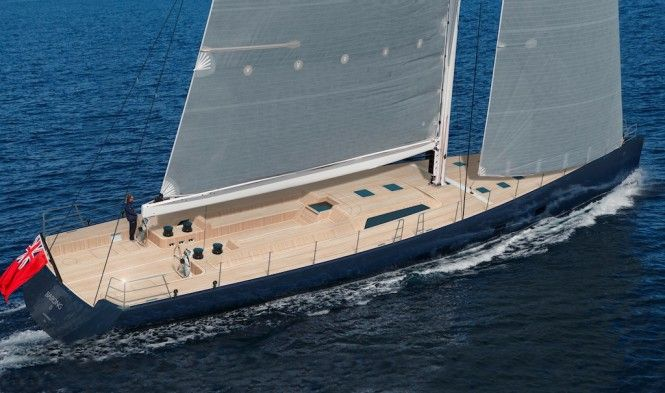 Specs  Dimensions  Length Overall (m/ft): 33.53m (110.01ft)  Beam: 7.47m (24.51ft)  Draught Max: 4.8m (15.75ft)  Draught Min: 0m (0ft)  Construction  Builder: Wally Yachts  Country of Build: Italy  Date of Completion: 2016  Hull Material: GRP  Superstructure Material: GRP  Design  Naval Architecture: German Frers  Exterior Design: German Frers  Classification  Accomodation  Guests: 6  Crew: 4  Engines  Number of engines: 1  Manufacturer/ Type: Cummins Inc. - QSB 6.7 MCD  HP: 0  KW: 0  Total…
